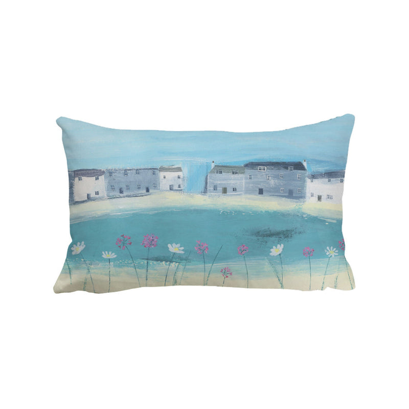 Beach Flowers Art Cushion