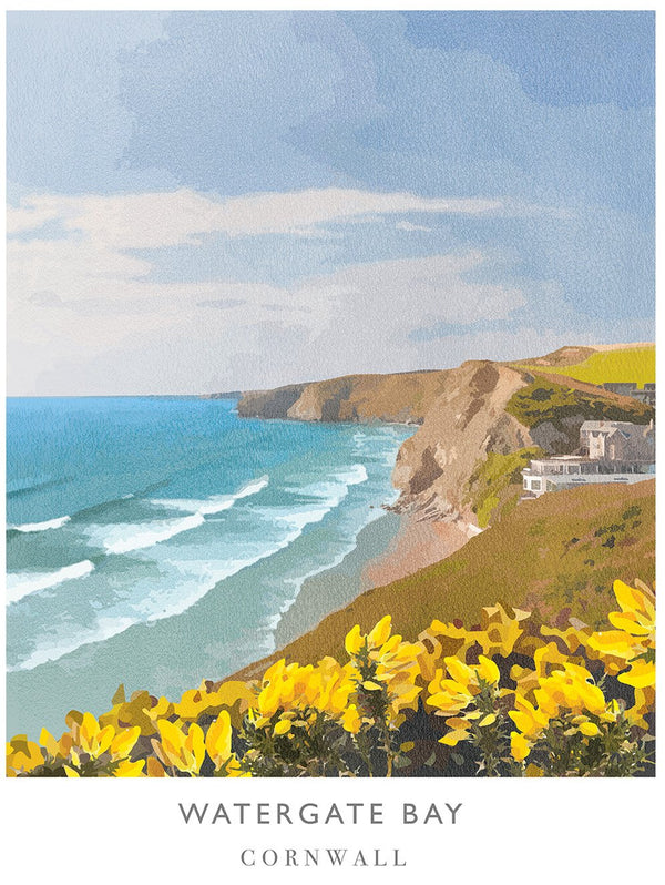 Watergate Bay Art Print