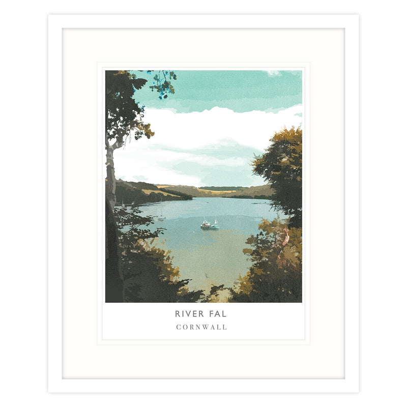 River Fal Framed Print