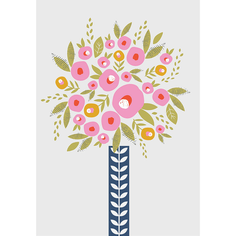 Retro Flowers Art Print