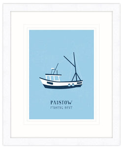 Padstow Fishing Boat Framed Print