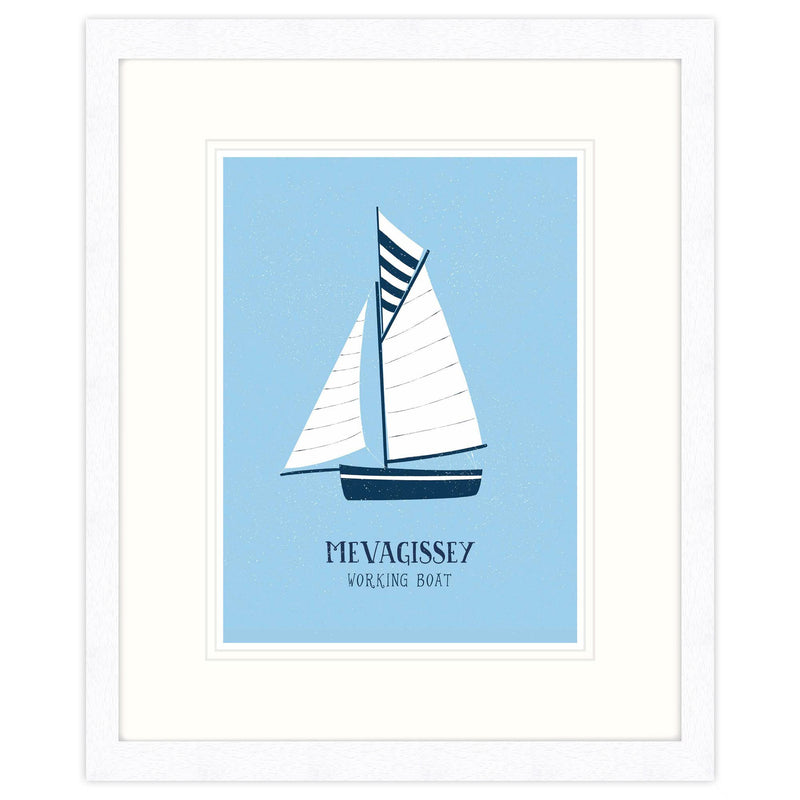 Mevagissey Working Boat Framed Print