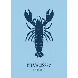 Mevagissey Lobster Art Print