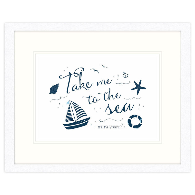 Take Me To The Sea Mevagsissey Framed Print