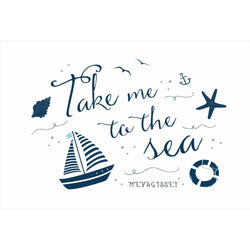 Take Me To The Sea Mevagsissey Art Print
