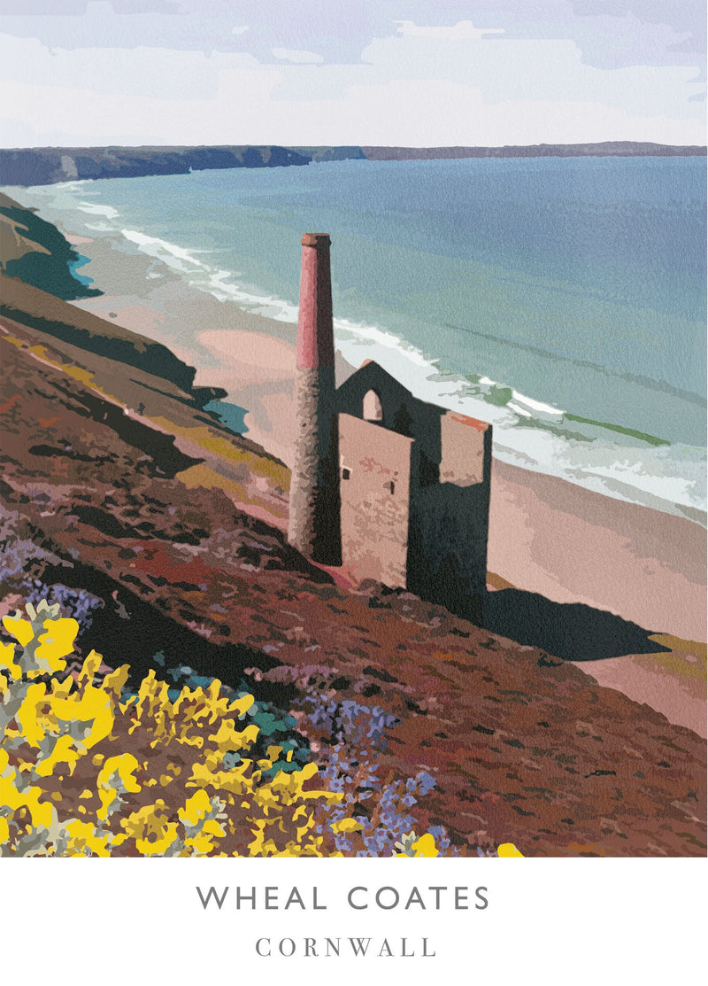 Wheal Coates Art Print