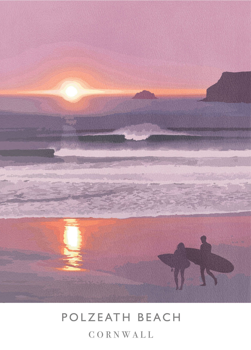 Polzeath Sunset Art Print