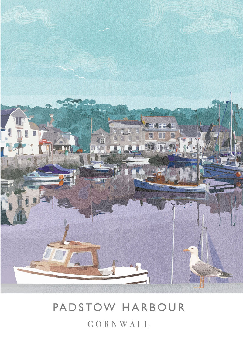 Padstow Harbour Art Print