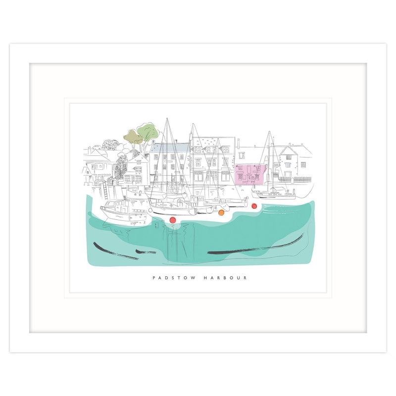 Padstow Reflections Framed Print