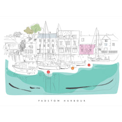 Padstow Reflections Art Print
