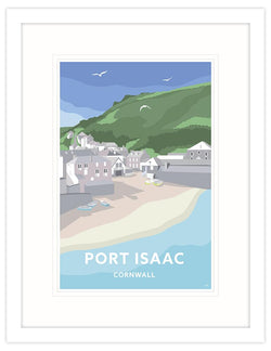 Port Isaac Travel Art Framed Print