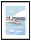 St Ives Cornwall Framed Art Print (Black)
