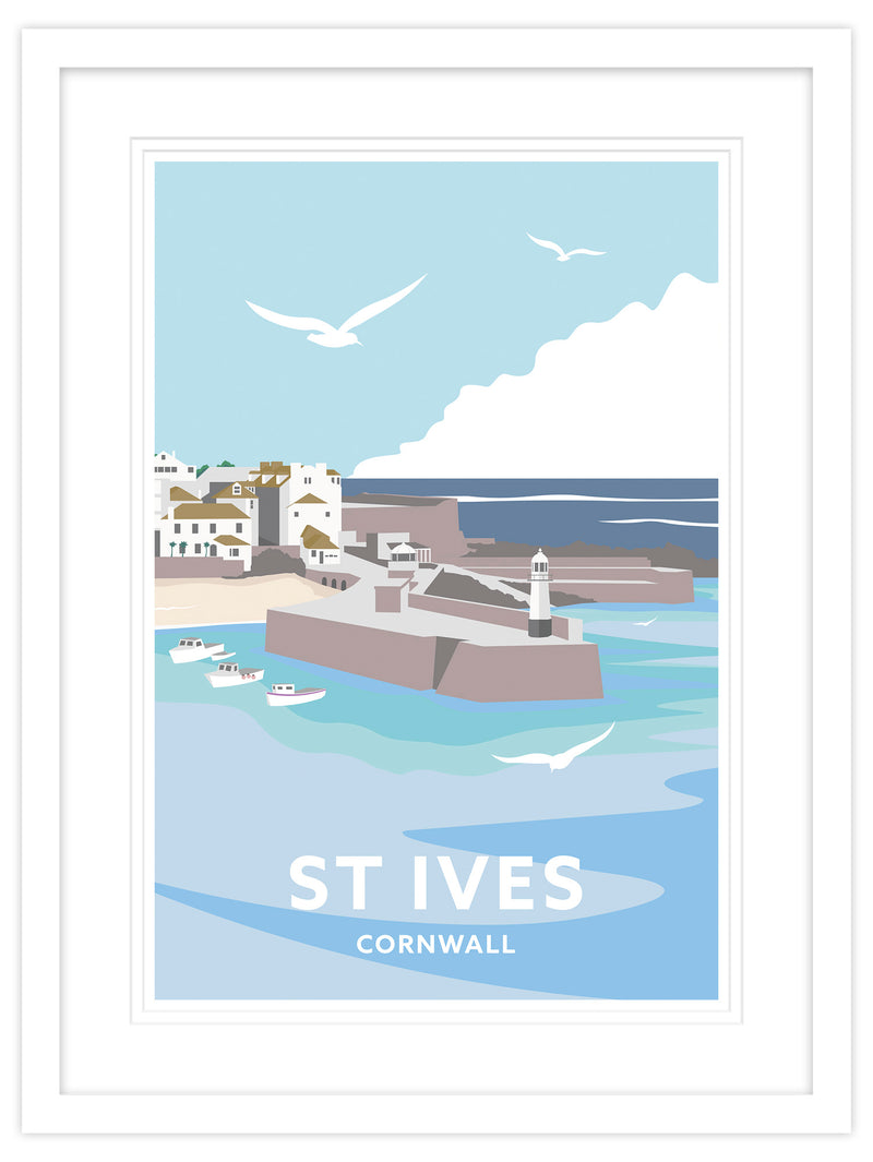 St Ives Cornwall Travel Framed Art Print