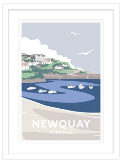 Newquay Harbour Cornwall Small Framed Print