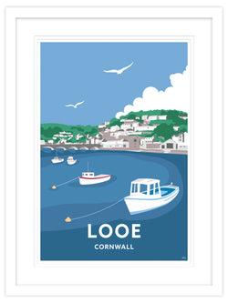 Looe Cornwall Travel Framed Art Print