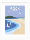 Rock Framed Art Print (White)
