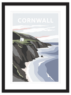 Cornwall Tin Mine Framed Art Print (Black)