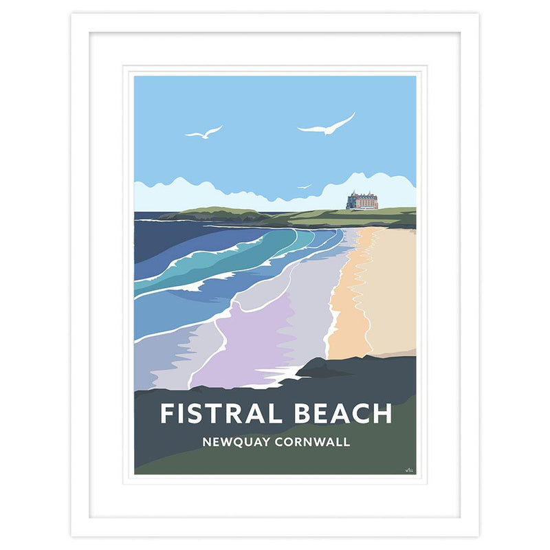 Fistral Beach Newquay Small Framed Print