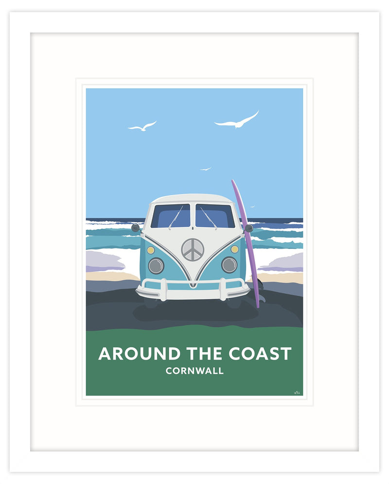 Around The Coast Small Framed Print