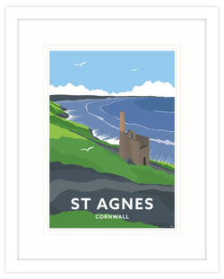 St Agnes Framed Art Print (White)