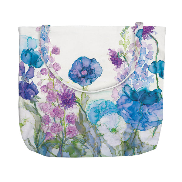 Poppies, Delphiniums, Scabious & Sweetpea Tote Bag