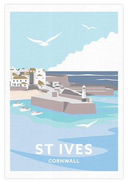 St Ives Cornwall Tea Towel