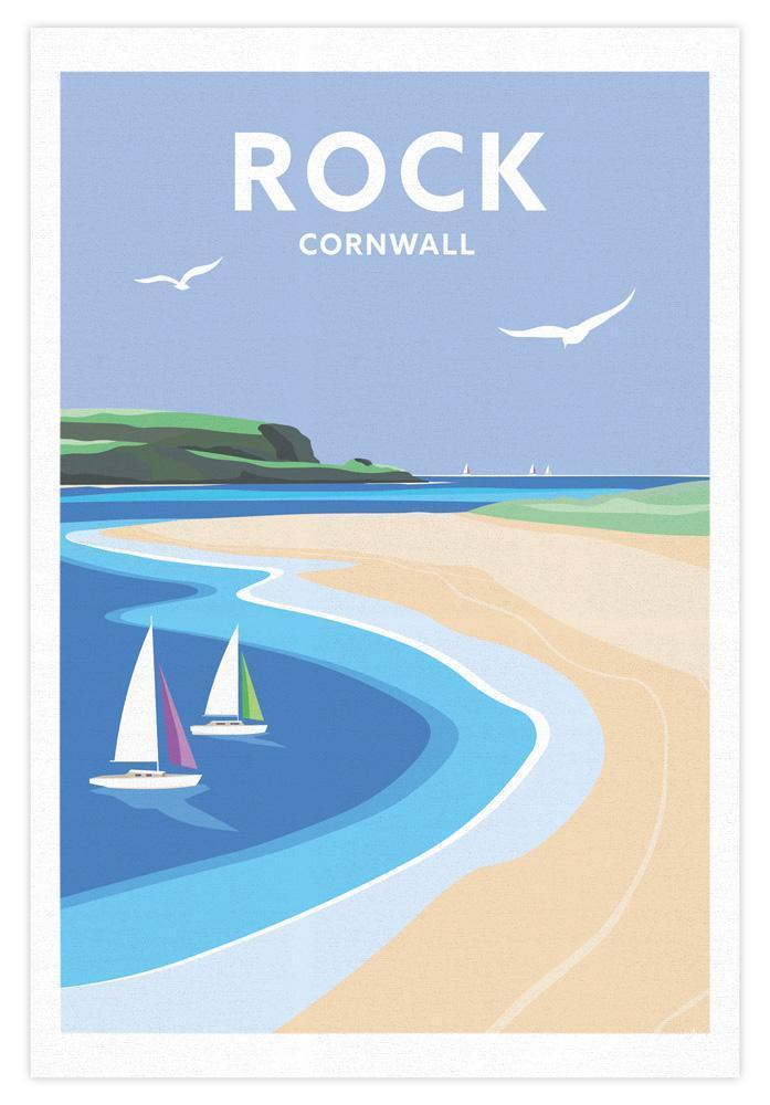 Rock Cornwall Tea Towel