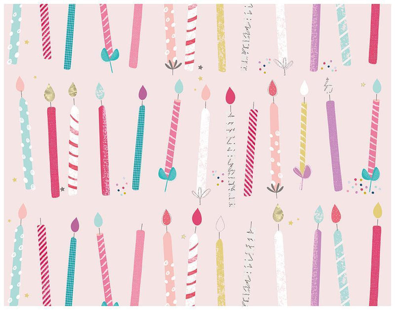 Candle Stripe Birthday Wrapping Paper