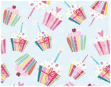 Cupcake Birthday Wrapping Paper