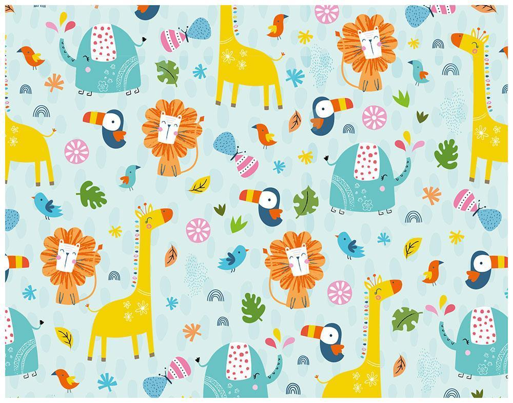 animal parade children s wrapping paper whistlefish