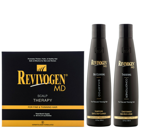 09. Revivogen Intro Pack (Scalp Therapy 3x60ml+Shampoo 360ml+Conditioner 360ml)