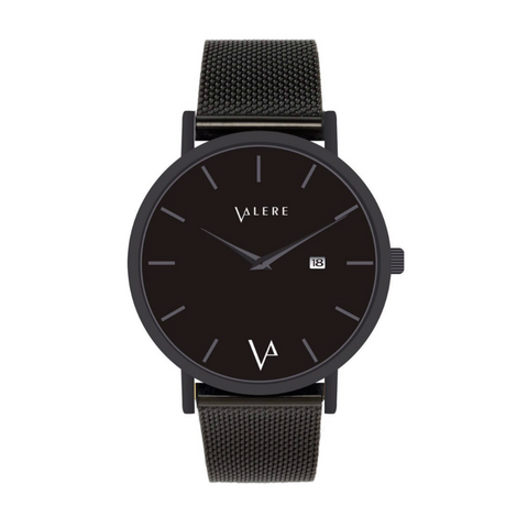 Novus Noir Edition 40mm Matte Black with Mesh Strap