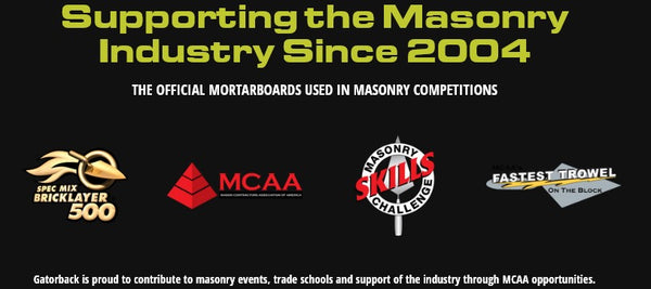 Gatorback Tools are the official mortarboards used in masonry competitions.