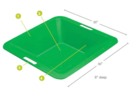Gatorback Mortar Pans Features