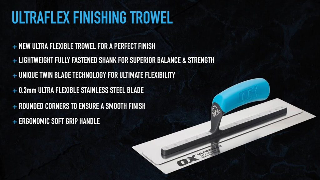 Ox Tools Ultraflex Concrete Finishing Trowels