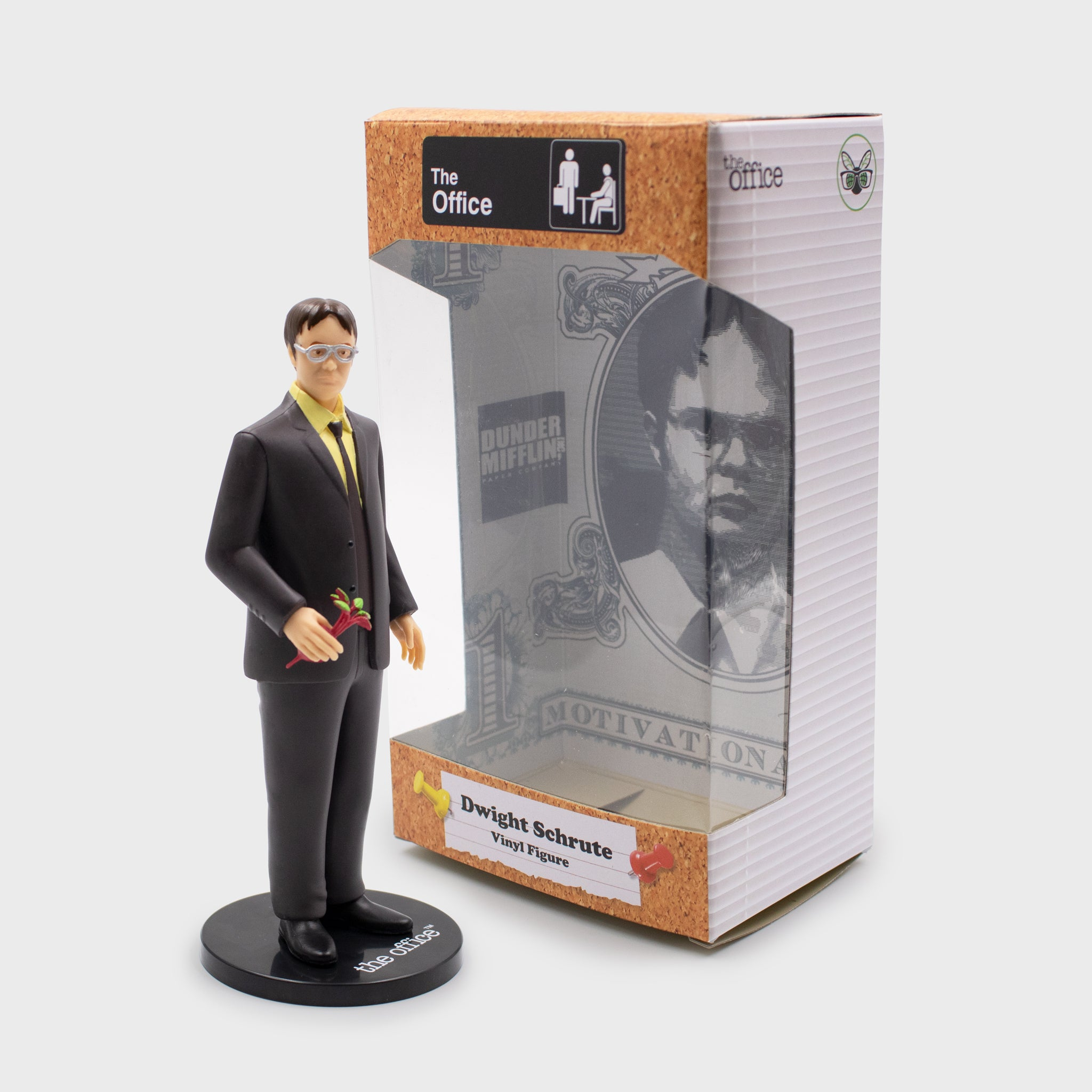 dwight schrute the office vinyl figure collectible exclusive dunder miffling nbc culturefly