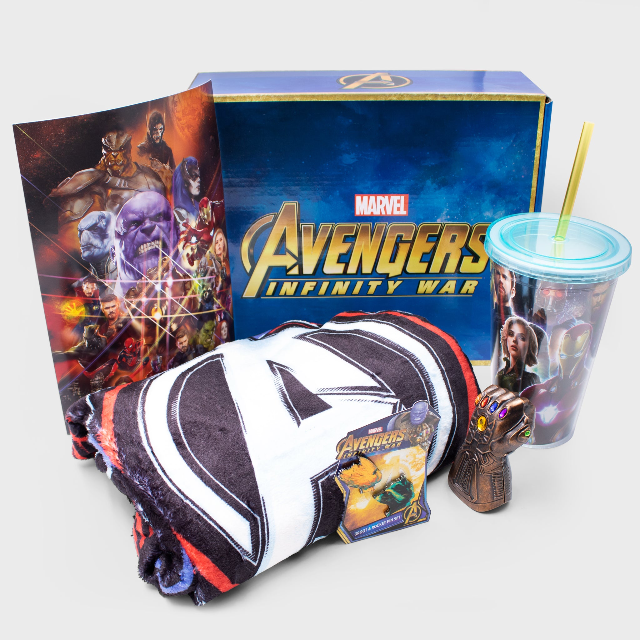 avengers infinity war marvel entertainment iron man guardians of the galaxy captain america thanos thor black widow hawkeye spider-man hulk collectibles box accessories walmart retail exclusive culturefly
