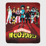 my hero academia mha bnha boku no hero academia deku izuku midoriya anime collector's box collectibles exclusives back to school all might accessories culturefly blanket throw comfy soft home decor