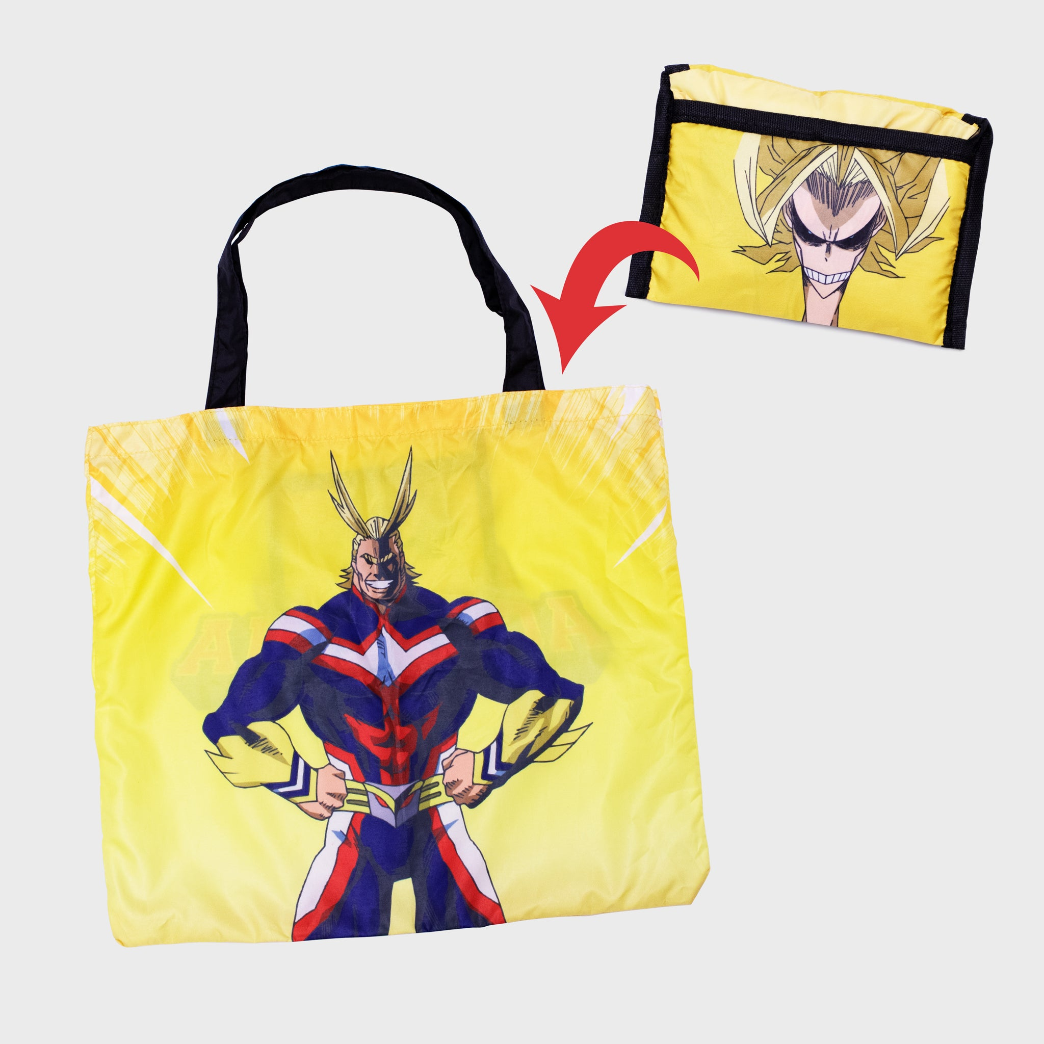 my hero academia mha bnha boku no hero academia deku izuku midoriya anime collector's box collectibles exclusives back to school all might accessories culturefly tote bag reusable foldable