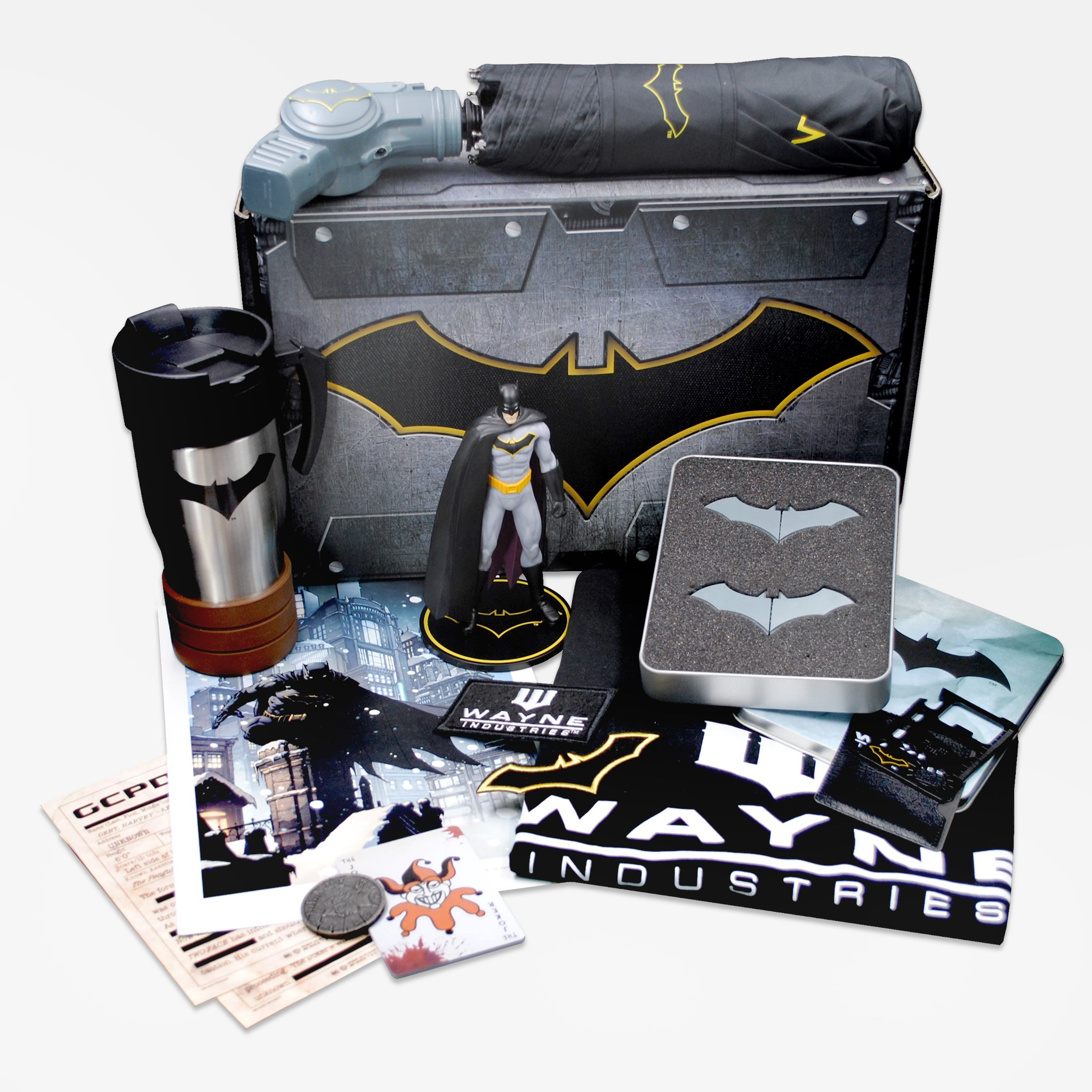 world's finest the collection batman collectible dc comics caped crusader exclusive collectors box culturefly