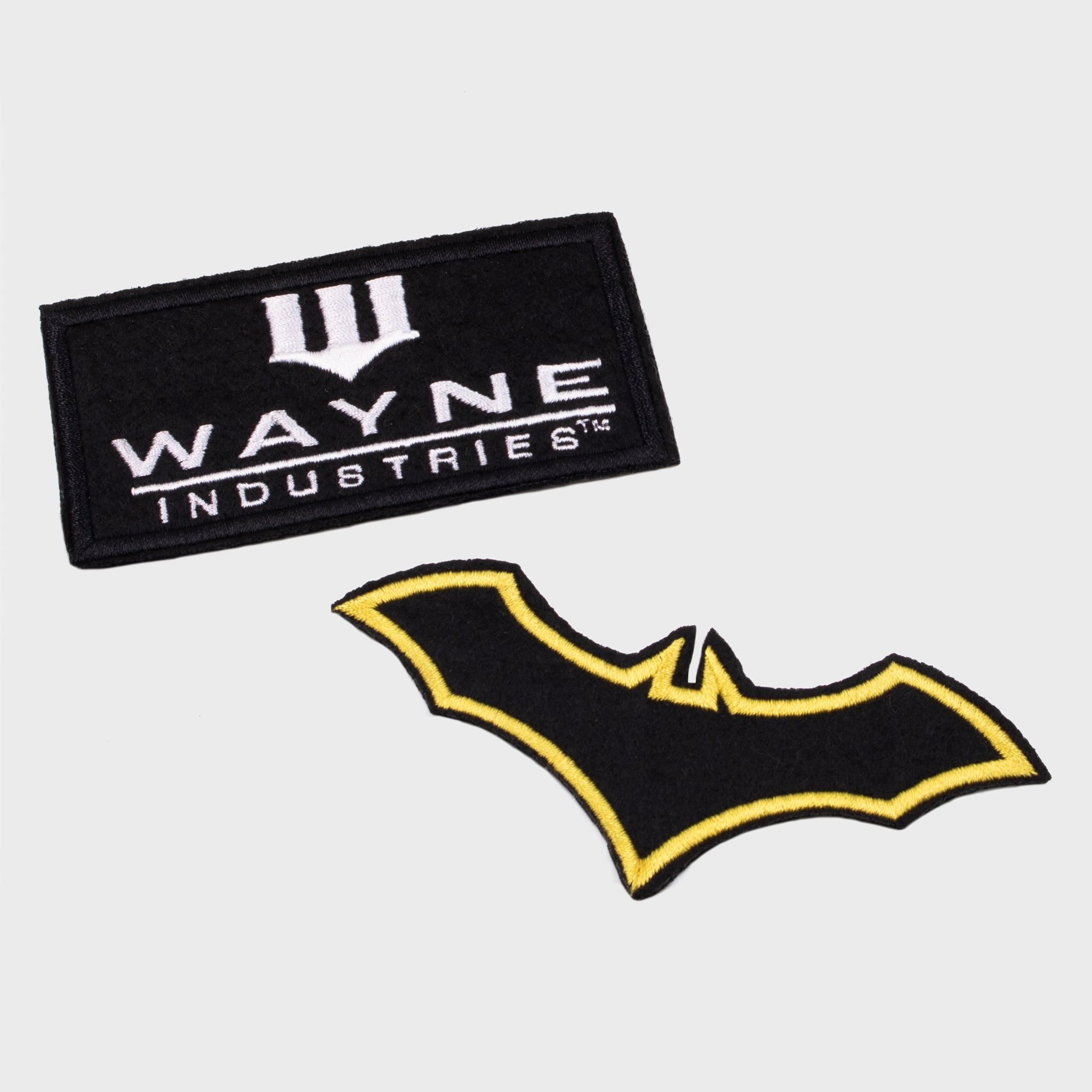 world's finest the collection batman bruce wayne wayne industries bat symbol iron on patches set collectible dc comics caped crusader exclusive collectors box culturefly