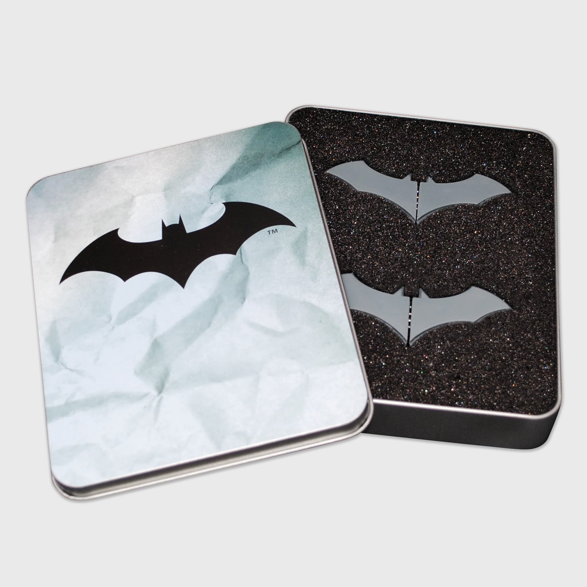 world's finest the collection batman batarang push pin set collectible dc comics caped crusader exclusive collectors box culturefly