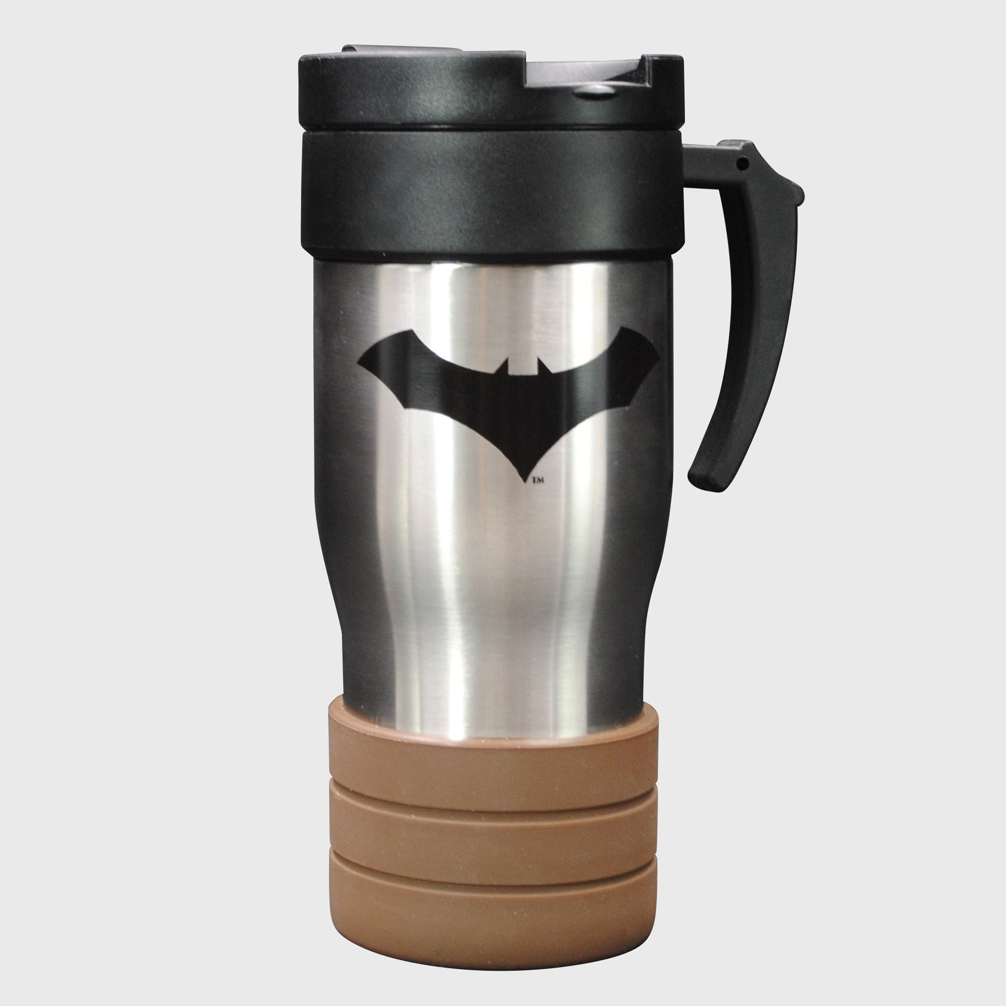 world's finest the collection batman thermos coffee mug travel kitchenware collectible dc comics caped crusader exclusive collectors box culturefly