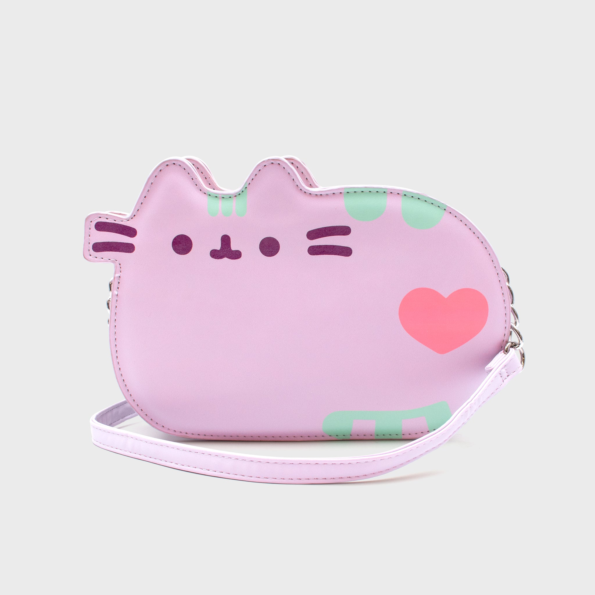 pusheen accessory crossbody bag purse purple cute adorable cat culturefly