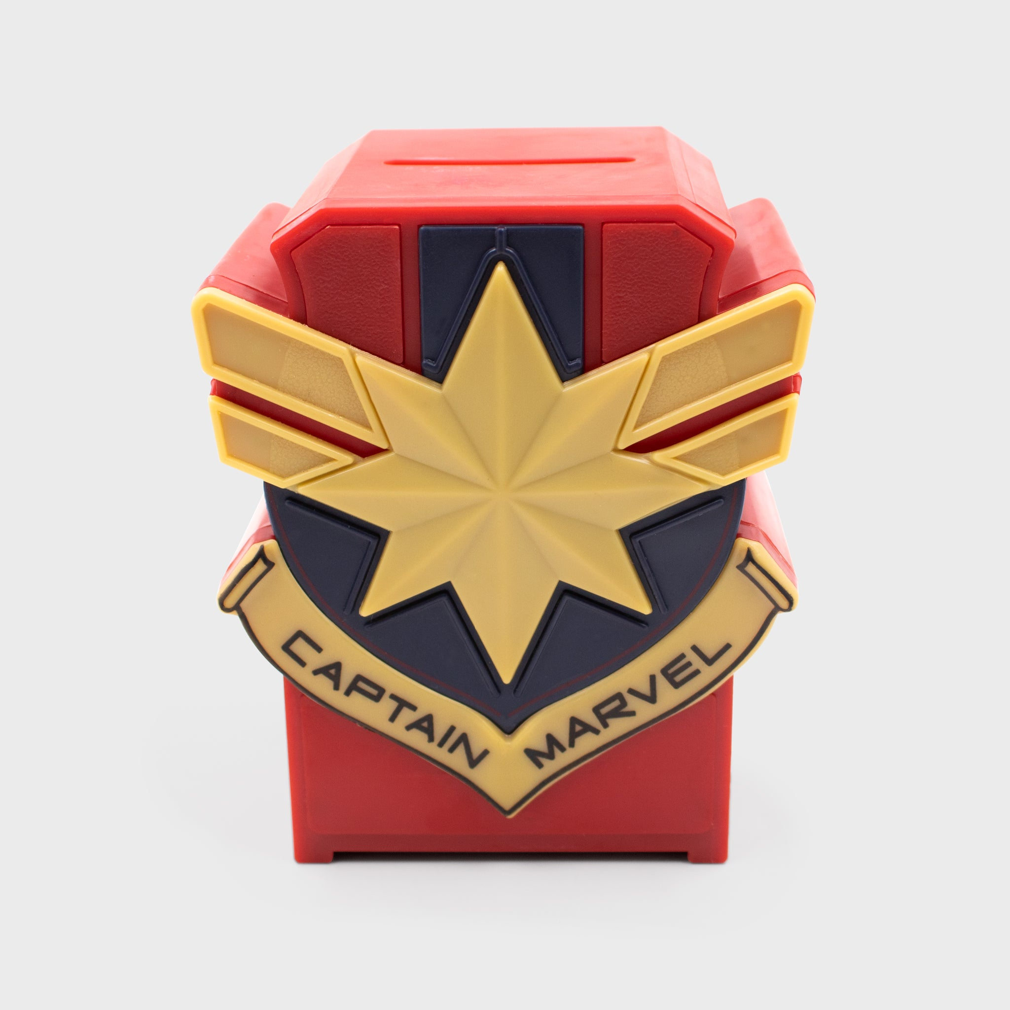captain marvel marvel entertainment mcu movie superhero coin bank piggy bank collectible collector exclusive box culturefly
