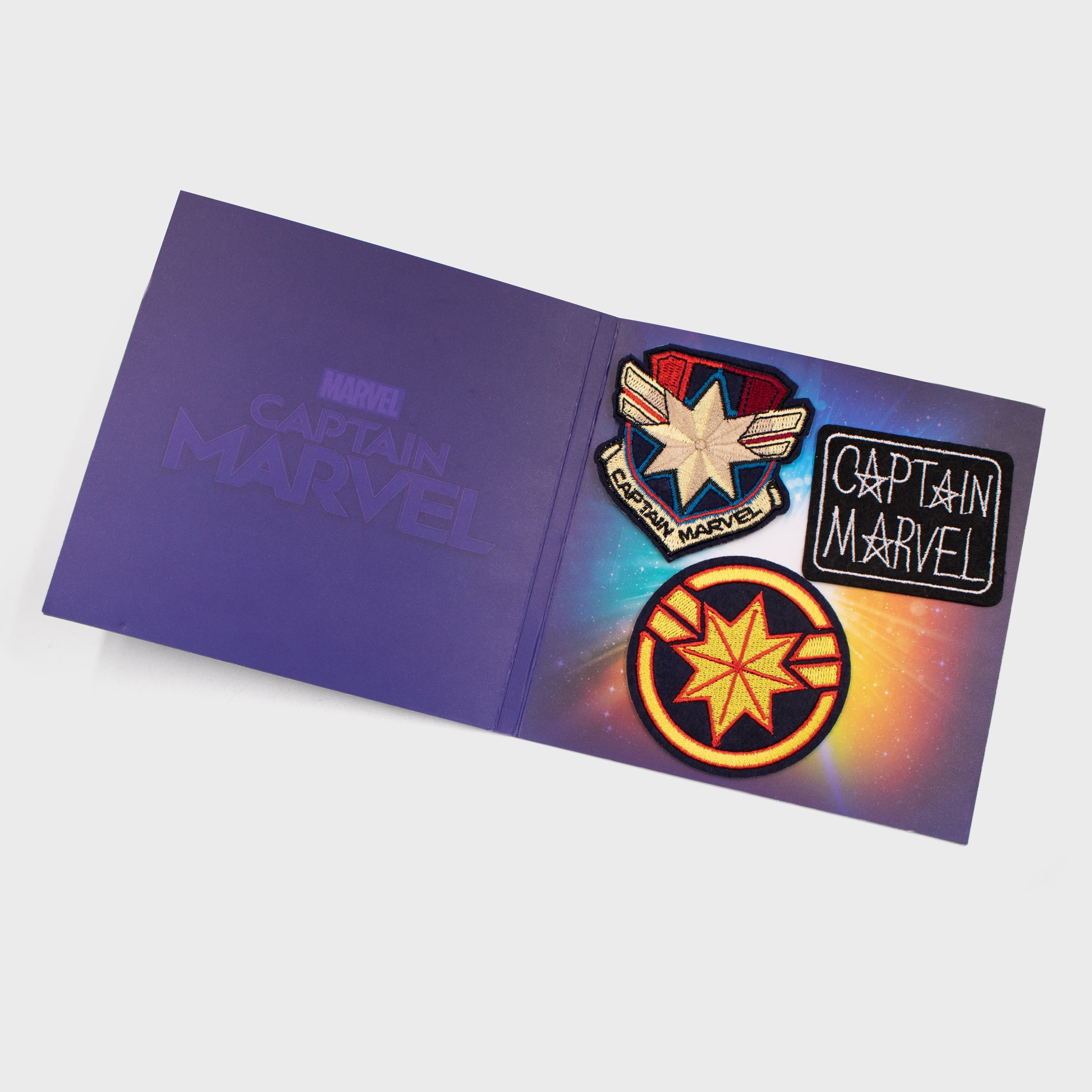 captain marvel marvel entertainment mcu movie patch set superhero collectible collector exclusive box culturefly