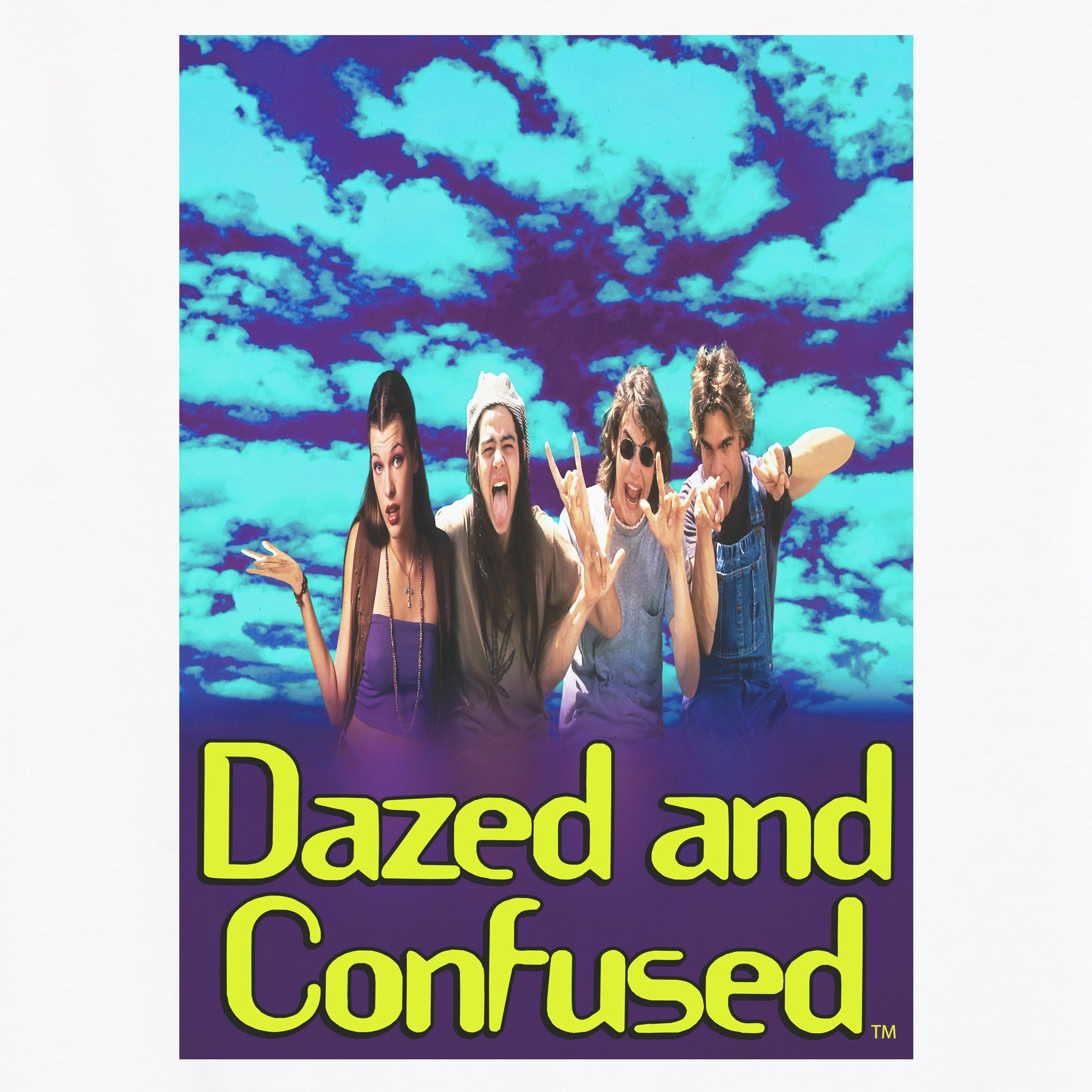 dazed and confused 25th anniversary group t-shirt graphic shirt apparel culturefly