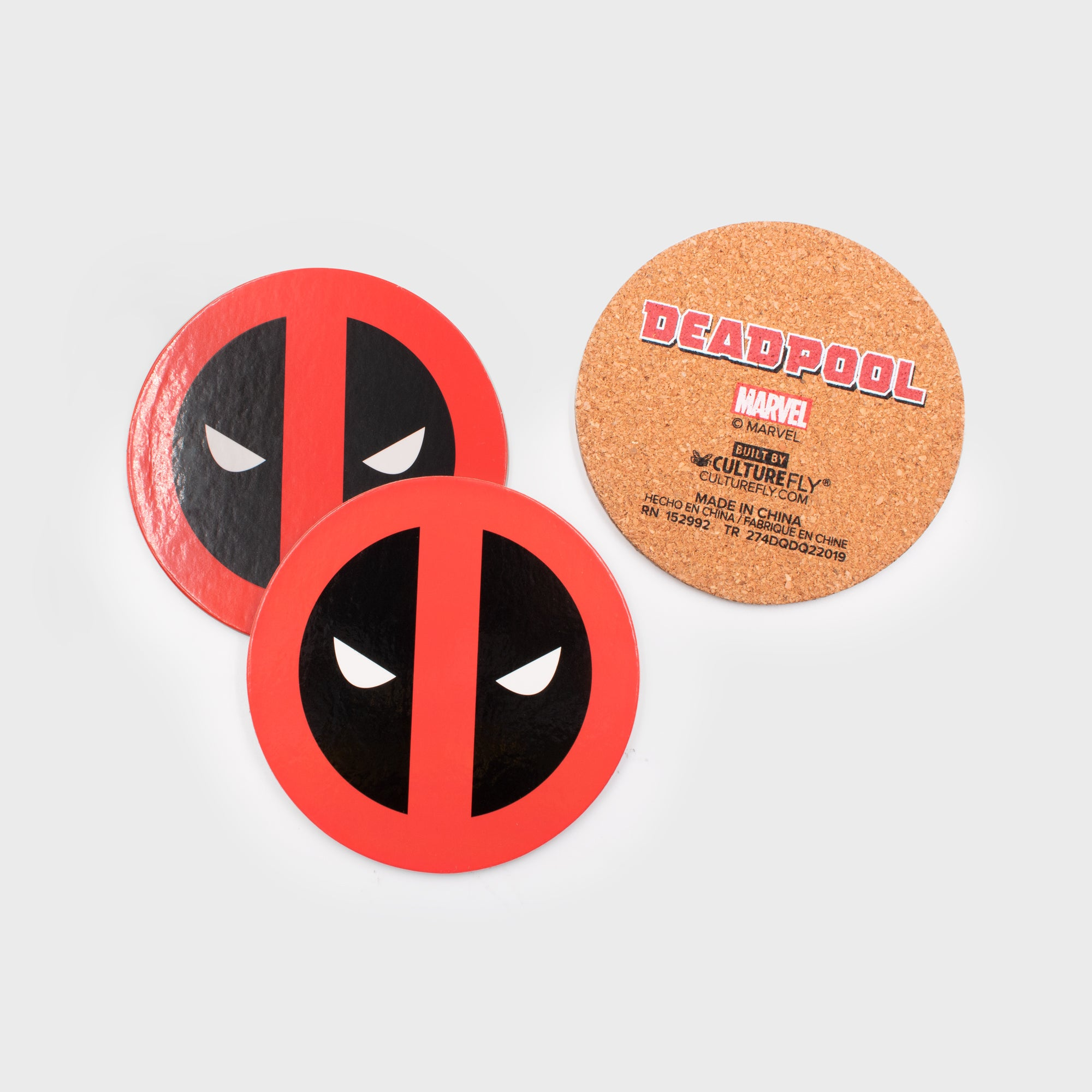 deadpool marvel superhero exclusive collector box home decor collectible kitchenware coasters coaster set enamel pin culturefly