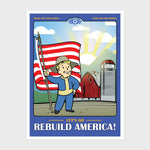 fallout 76 bethesda video game gaming vault boy america collector box collectible exclusive poster art print culturefly