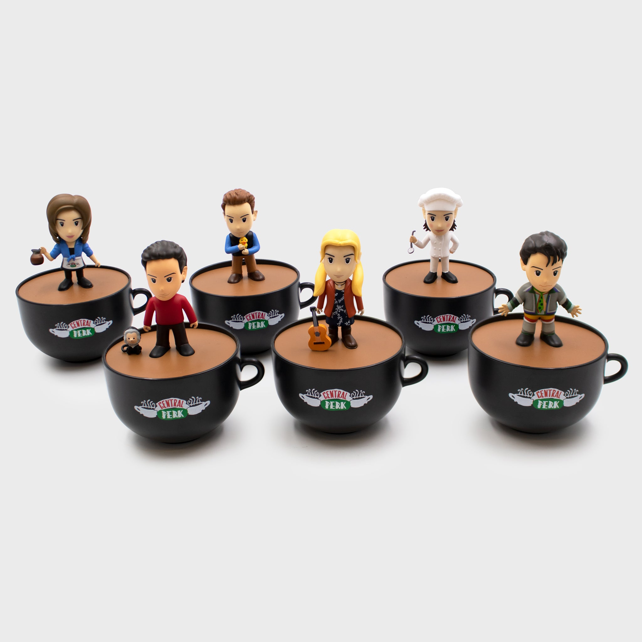 smols culturefly friends tv show warner brothers wb '90s sitcom chandler bing monica geller ross geller rachel greene joey tribbiani phoebe buffay collectibles blind bags mystery mini figurines collection